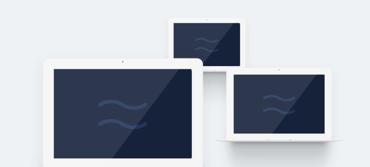 Airtame logo presented on three different devices
